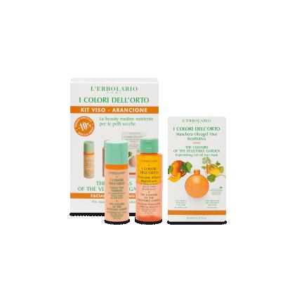 Colores del Huerto Naranja Kit Cara Pieles Secas: Detergente + Crema + Mascarilla