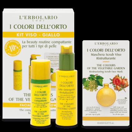 Colores del Huerto Naranja Kit Amarillo: Leche Detergente + Crema Cara + Mascarilla.