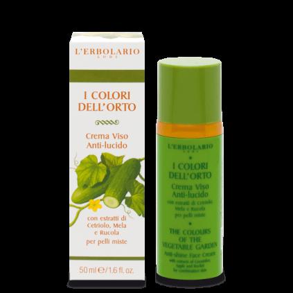 Colores del Huerto Verde Crema Cara Anti-brillos, 50 ml