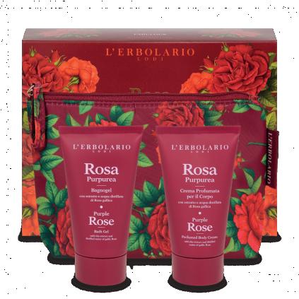 Rosa Purpúrea Pochette Fabulosa: Gel de baño 75 ml + Crema Perfumada 75 ml
