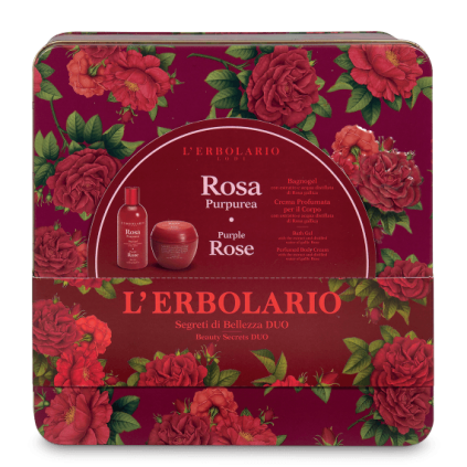 Rosa Purpúrea Secretos de Belleza Duo: Gel de baño 250 ml y Crema Cuerpo 200 ml