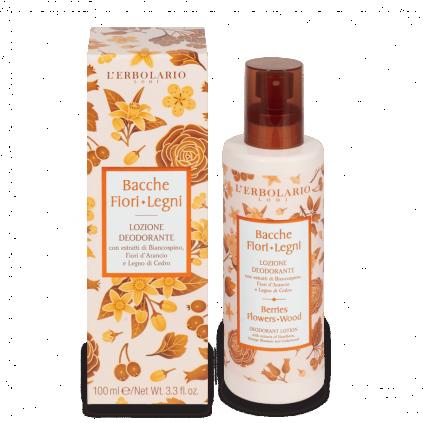 Bayas Flores Leños Loción Desodorante, 100 ml