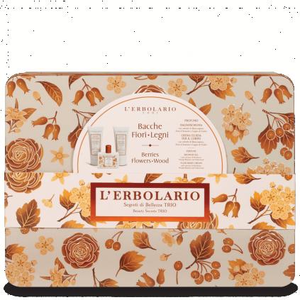 Bayas Flores Leños Secretos de Belleza Trio: Perfume 50 ml + Gel de Baño 100 ml + Crema Cuerpo 100 ml